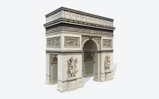 Low Poly Triumphal Arch Low-poly 3D model