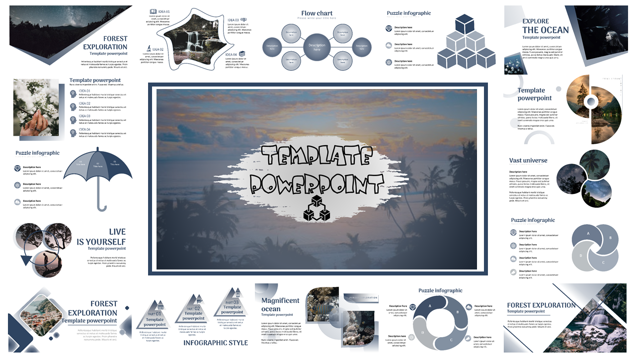 Template Powerpoint Design Multipurpose, Creative And Modern