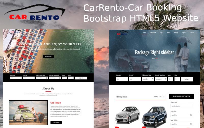 CarRento - Car Rental Service Bootstrap HTML5 Website Template