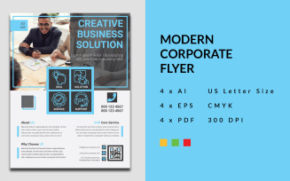 One Page Modern Business Flyer Corporate Identity Template Free