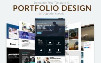 VeeFolio - Portfolio Modern Design Elementor Template Kit