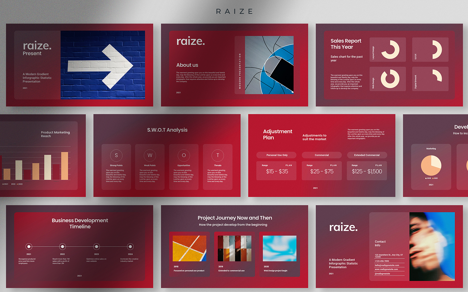 Raize - Gradient Infographic PPT