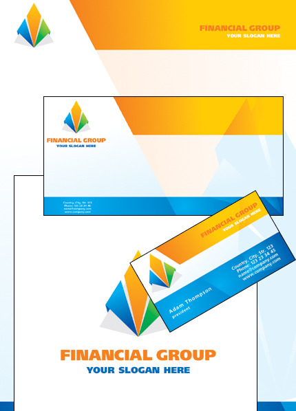 Financial Advisor Corporate Identity Template Vector Corporate Identity preview
