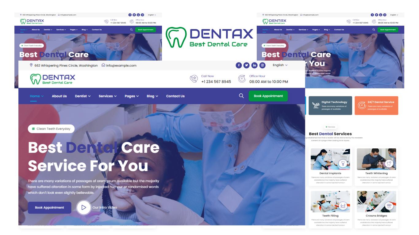 Dentax - Dentist & Dental Clinic HTML5 Template