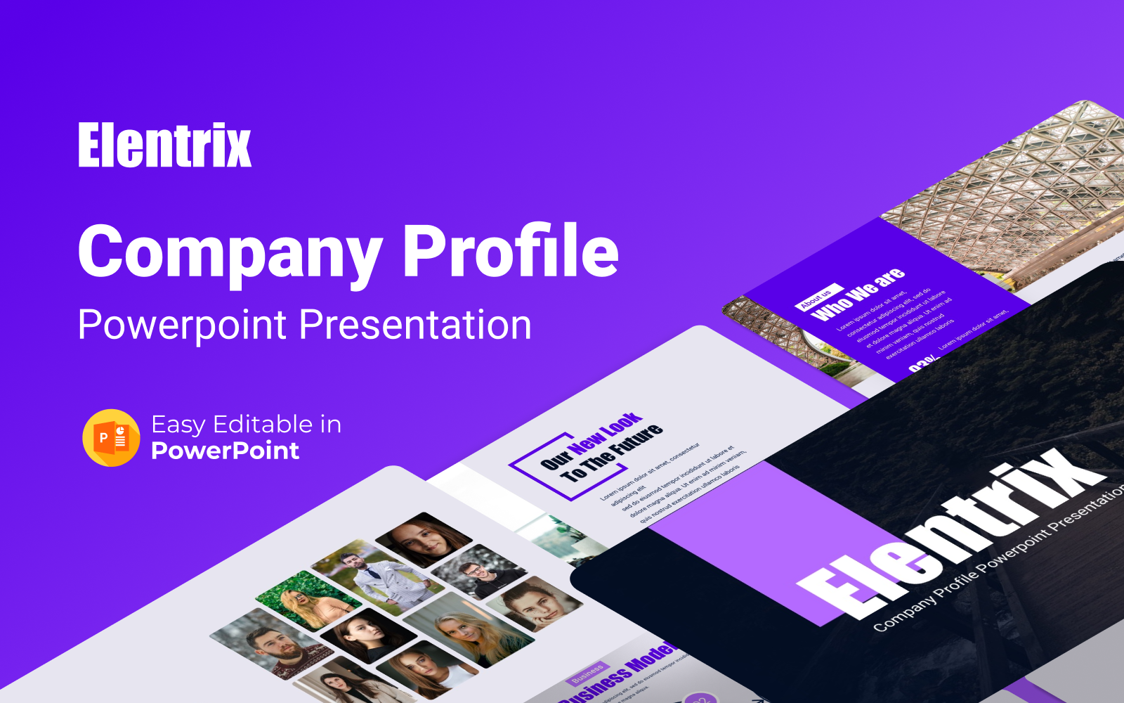 Elentrix – Company Profile Presentation Template