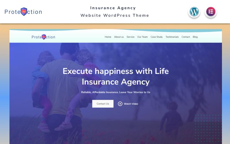 Protection - Insurance Agency Website WordPress Theme