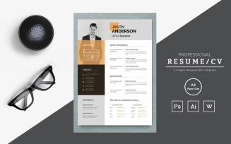 Jason clean and creative resume