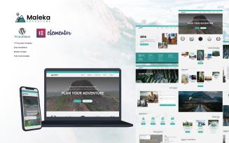 Maleka - Adventure Travel Agency Wordpress Elementor Template Kit