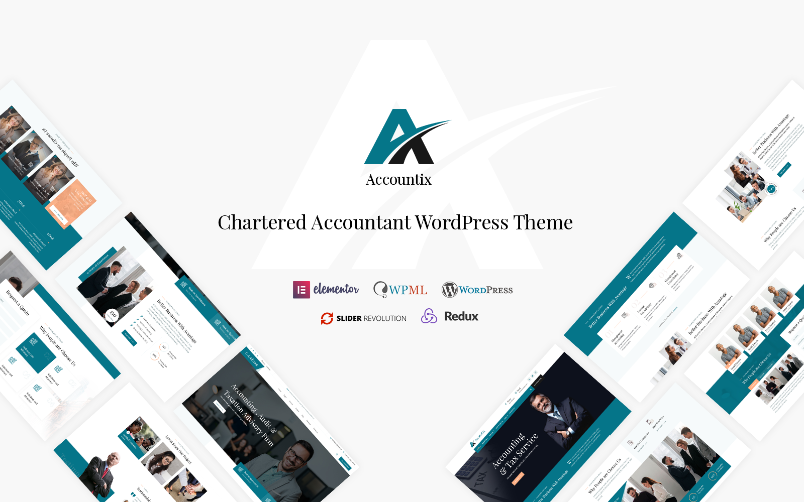 Accountix- Chartered Accountant WordPress Theme.