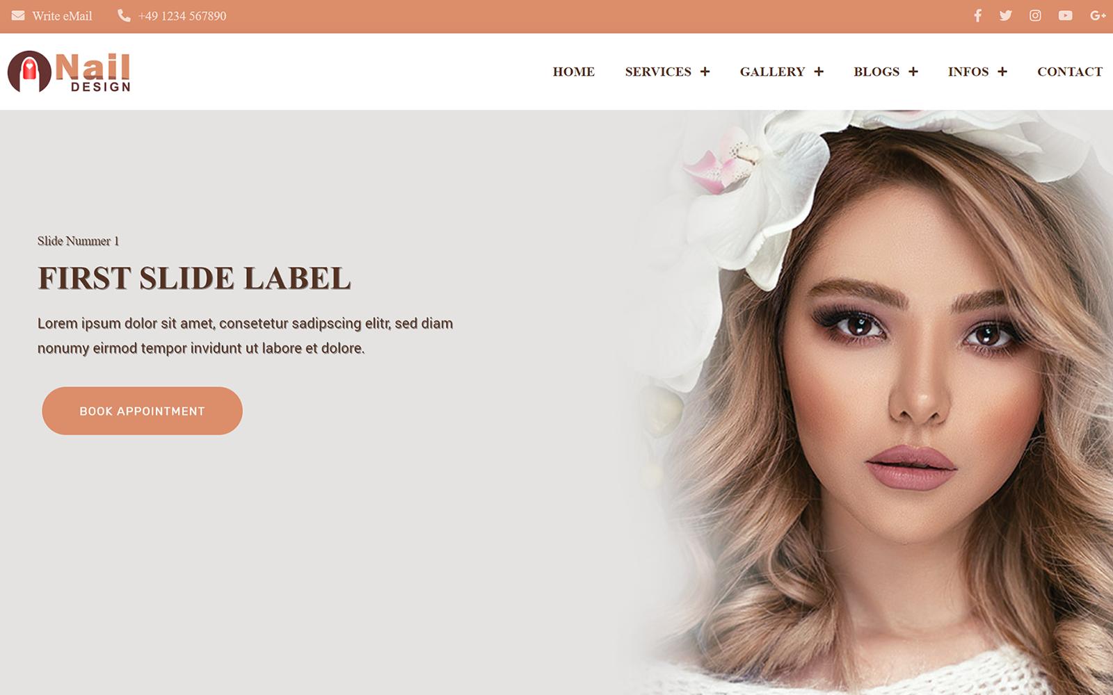 Nail Design - Bootstrap Studio Projekt - Bootstrap V5 - HTML CSS Template