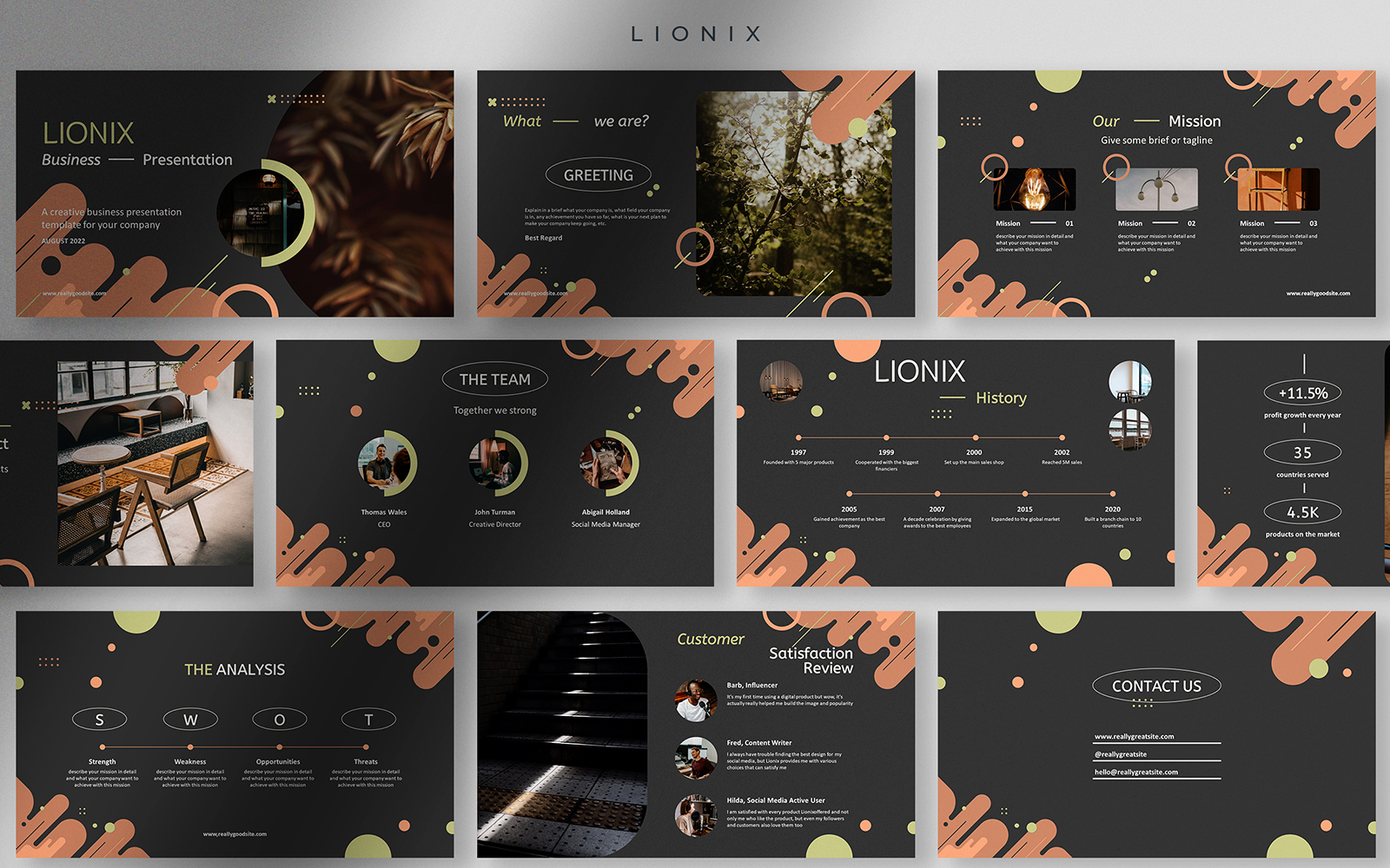 Lionix - Fun in The Dark Creative Business Presentation