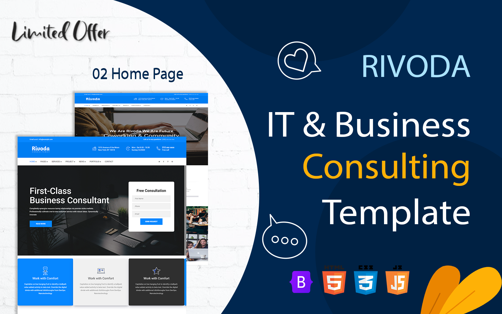 Rivoda - IT and Business Consulting Modern Template