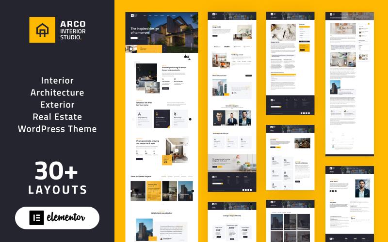ARCO - Interior Architecture Studio WordPress Elementor Theme WordPress Theme