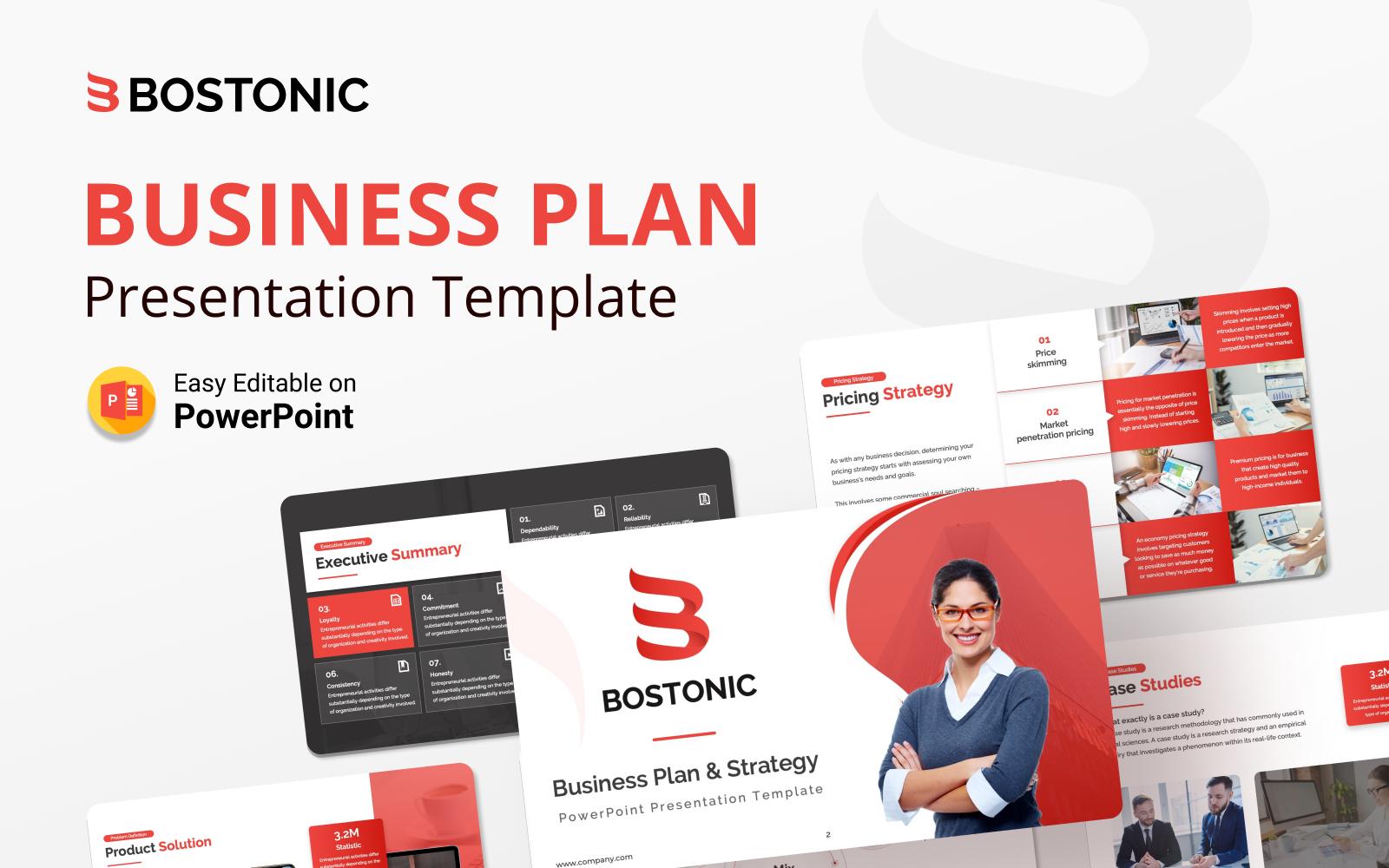 Bostonic Business Plan PowerPoint Presentation Template