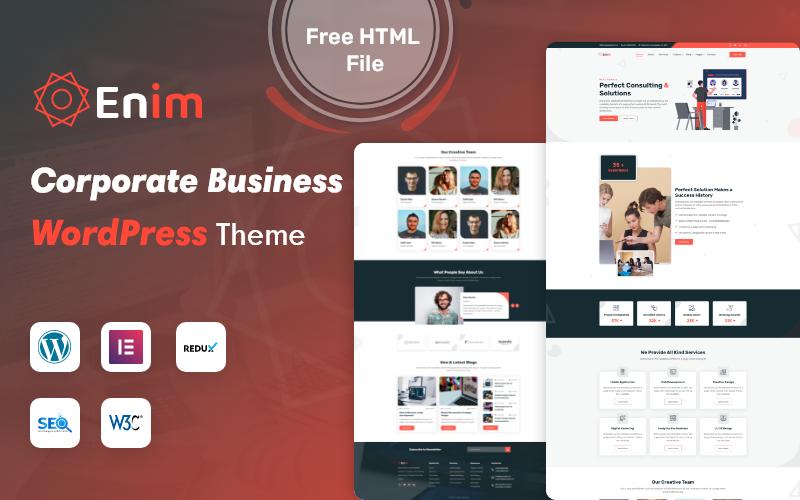Enim - Corporate Business Wordpress Theme
