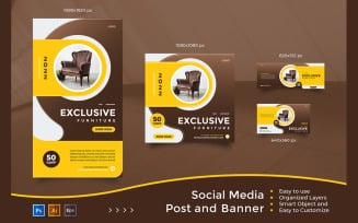 Exclusive Furniture Sale - Social Media Post And Banner Templates