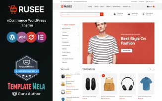 Rusee - Elementor WooCommerce Theme for Fashion