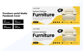 Simple and Modern Furniture Social Media Facebook Cover