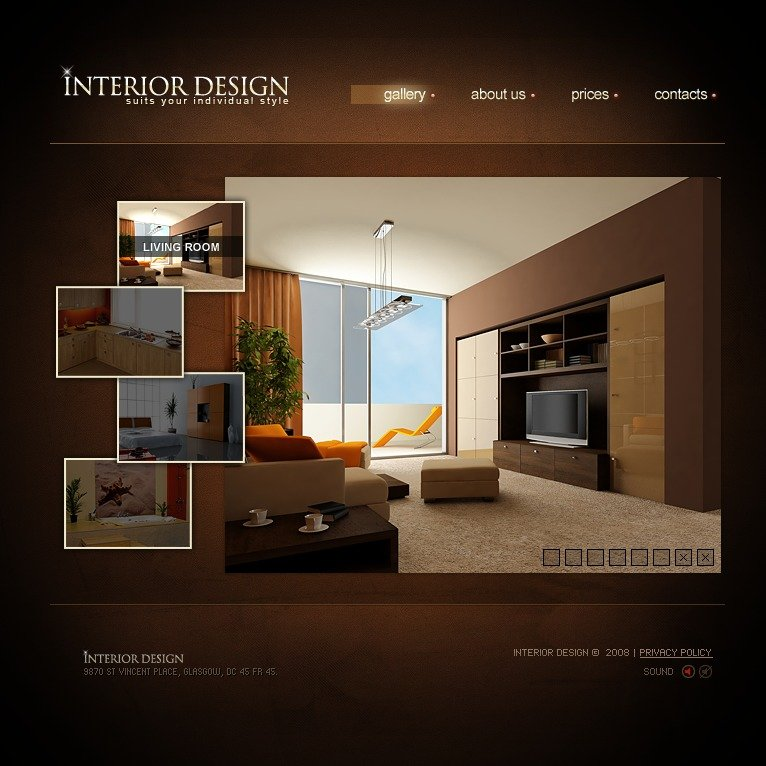 Interior design flash template 19551 for Interior design sites