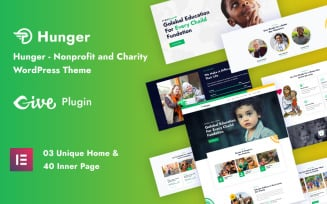 Hunger - Nonprofit and Charity Responsive WordPress Theme
