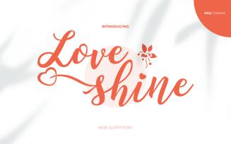 Love Shine Font With Love Design Harmony