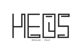 Heos Display Decorative Font