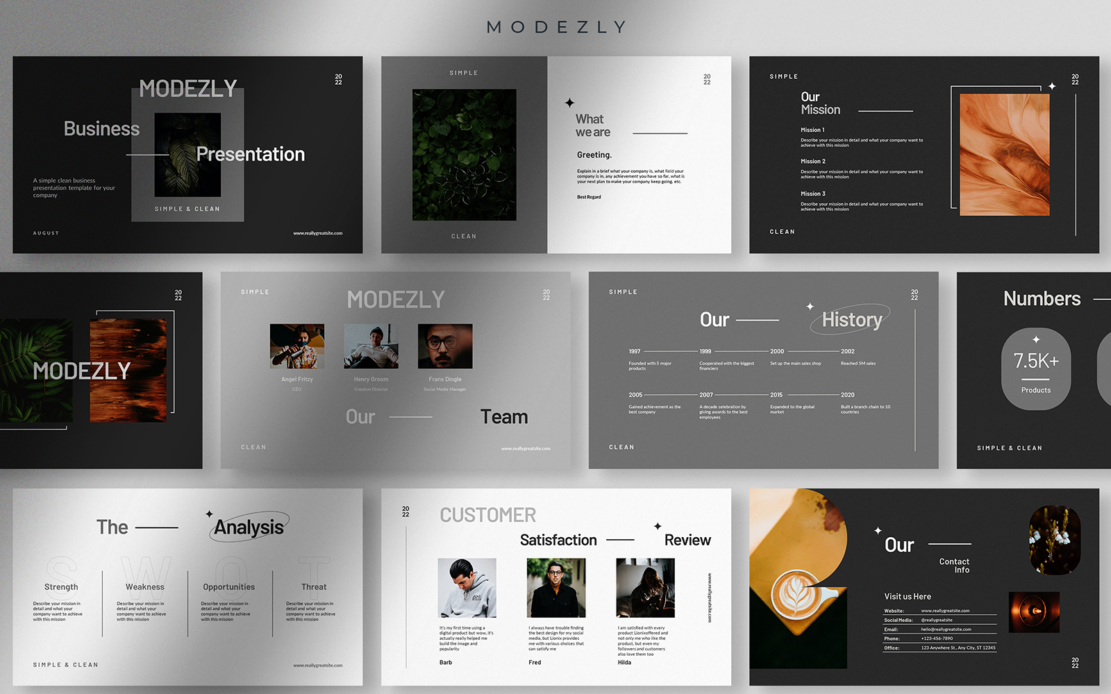 Modezly - Simple and Clean Business Presentations