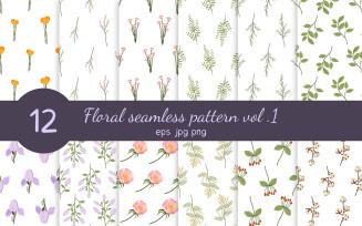 Floral Seamless Pattern Set Vol. 1