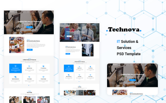 IT Solution & Services PSD Template