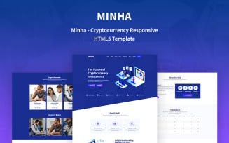 Minha - Cryptocurrency Responsive Website Template