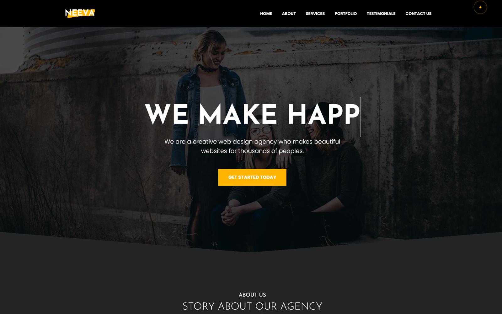 Neeva - OnePage Creative Agency Template