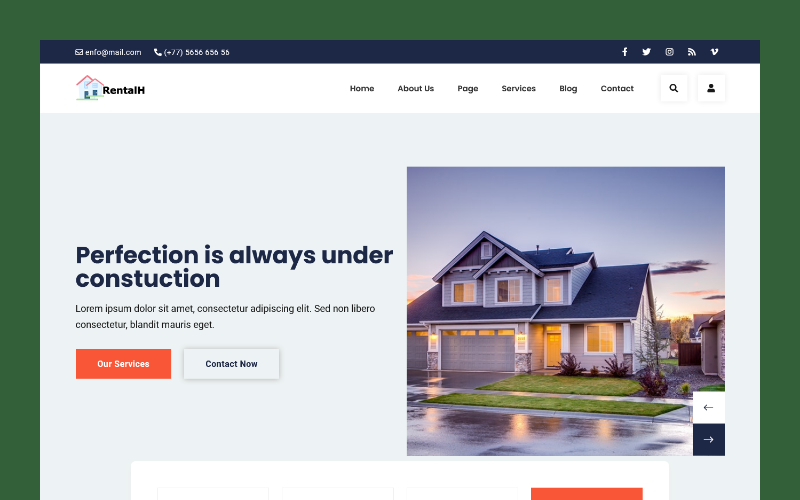 RentalH - Real Estate HTML5 Template