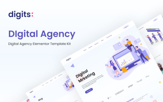 Digits – Digital Agency Elementor Template Kit