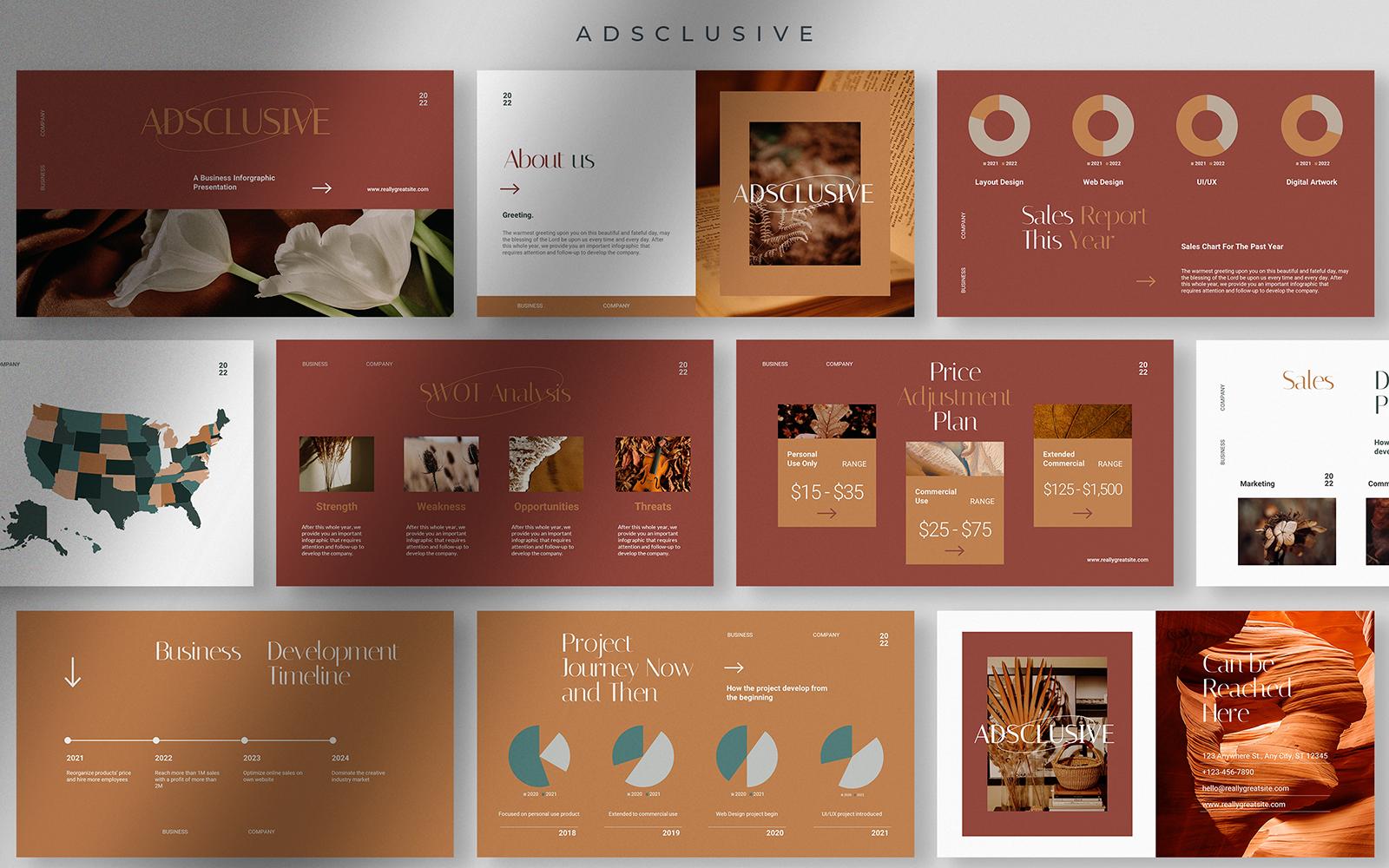 Adsclusive - Business Infographic Presentation