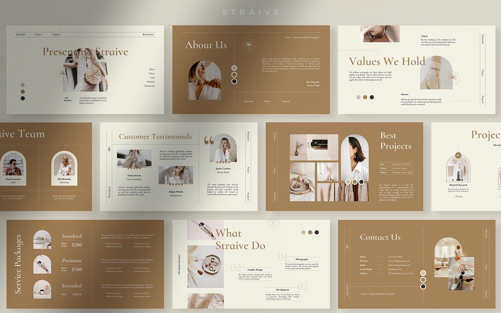 Straive - Peanut Butter Minimalist Project Proposal Presentation
