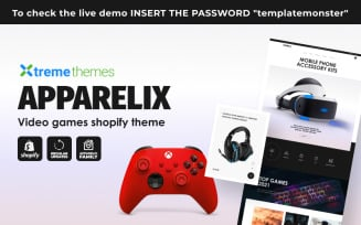 Apparelix Video Games Shopify Theme