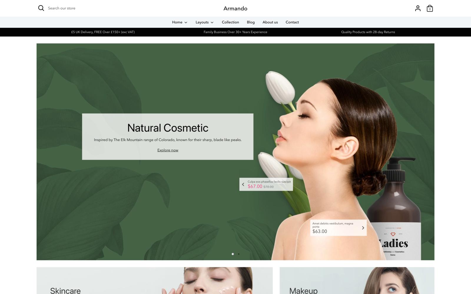 Armando - Beauty and Cosmetics Shopify Theme