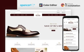 Shoes Store Responsive Opencart Theme