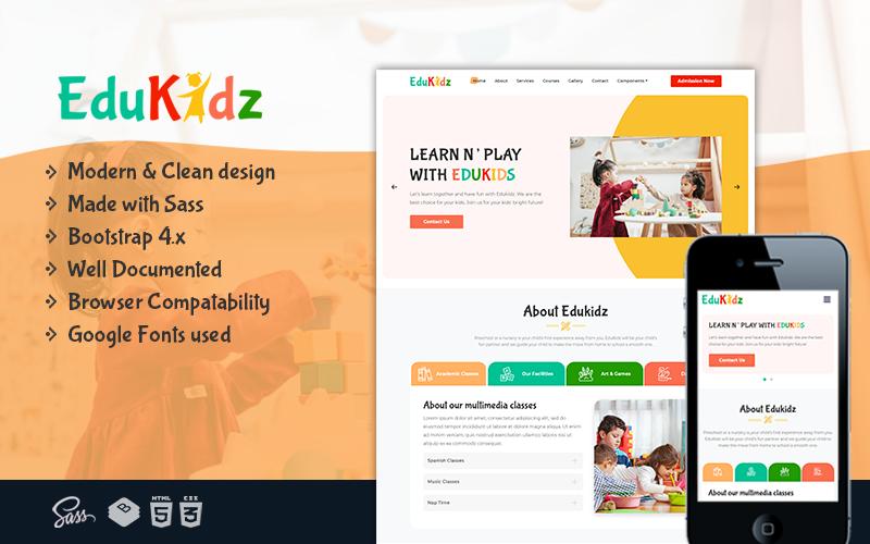 EduKidz - Preschool Elegant and Simple HTML5 Landing Page Template