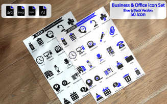 50 Business And Office Icon Set