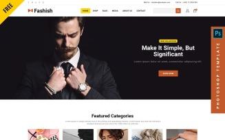 Fashish - Free eCommerce Photoshop Web Template