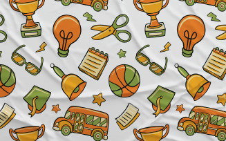 Back to School #03 - Vector Seamless Pattern