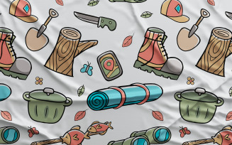 Camping #02 - Vector Seamless Pattern