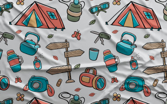 Camping #03 - Vector Seamless Pattern