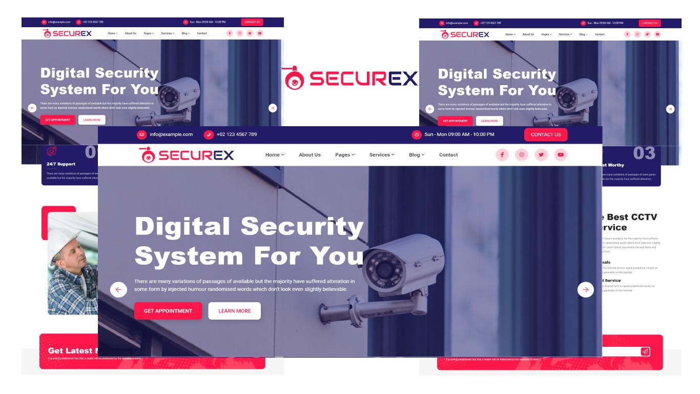 Securex - CCTV Security HTML5 Website template