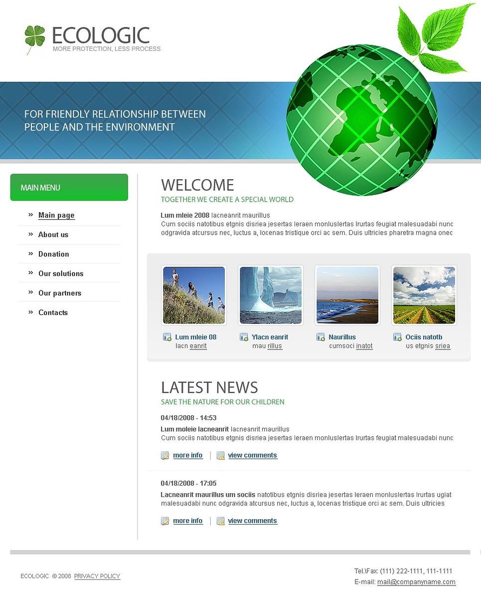 Modello siti web per un sito di ambiente for Siti web di home plan