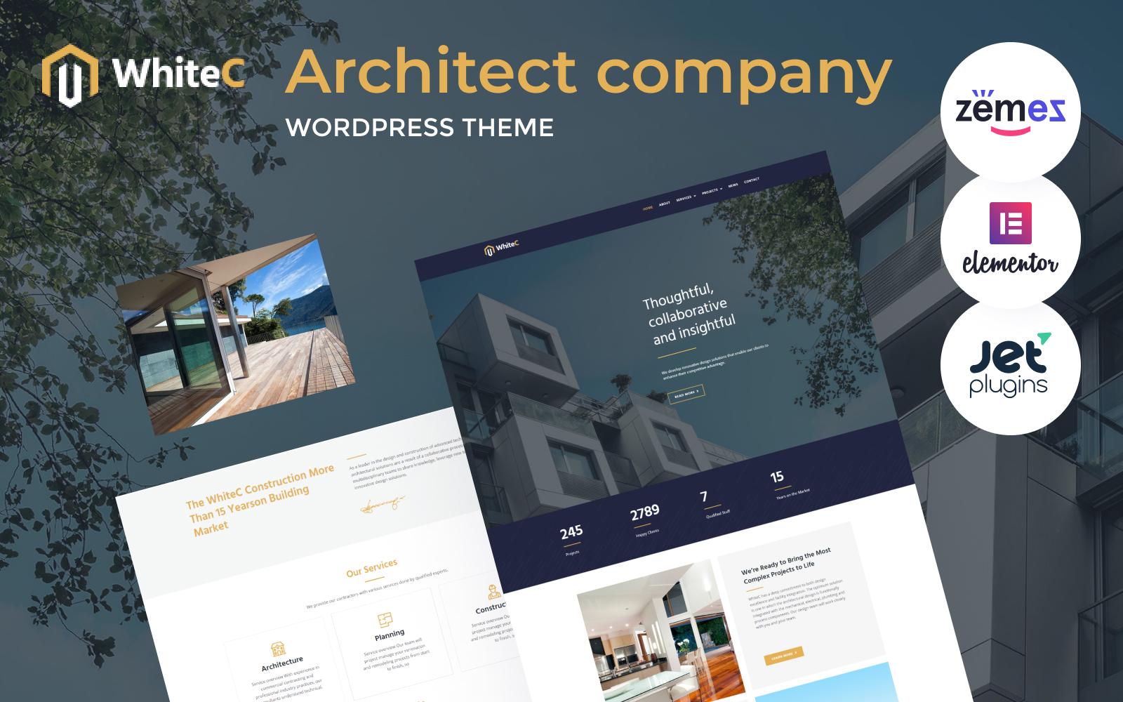 WhiteC - WordPress Elementor Architect Theme WordPress Theme