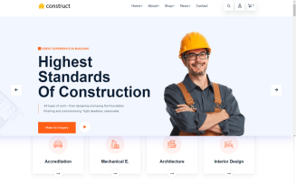 Construct Construction HTML Template