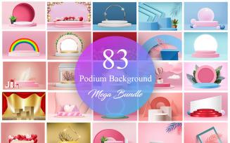 Podium Background Mega Bundle, Product Presentation 3D Podium Background Bundle