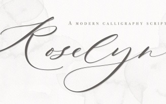 Roselyn Modern Calligraphy Script